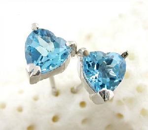 sterling silver blue topaz stud earring garnet citrine pendant prehnite moonstone