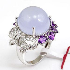 sterling silver chalcedony ring tourmaline citrine bracelet blue topaz earring
