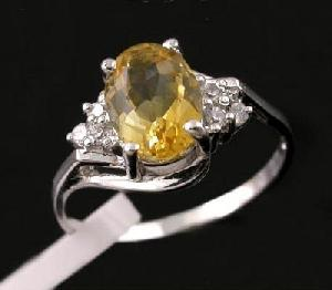 sterling silver citrine ring brass cz jewelry sapphire ruby earring