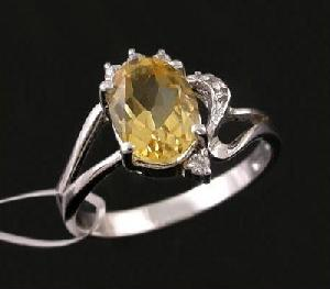 sterling silver citrine ring cz fashion jewelry sapphire earring prehnite