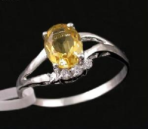 sterling silver citrine ring cz jewelry tourmaline pendant fashion