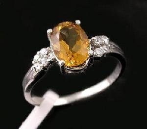 sterling silver citrine ring tourmaline pendant agate earring fashion jewelry