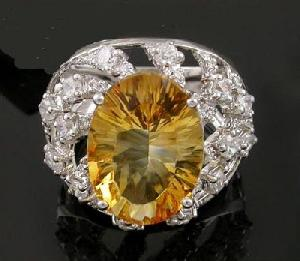 sterling silver citrine ring tourmaline jadeite bracelet prehnite earring