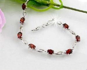 sterling silver garnet bracelet amethyst tourmaline earring pendant