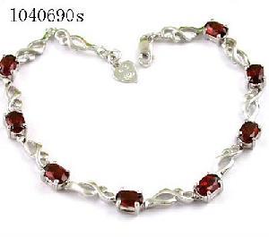 sterling silver garnet bracelet amethyst earring blue topaz olivine sapphire ring