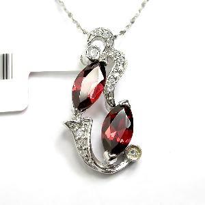 sterling silver garnet pendant tourmaline ring agate earring fashion jewelry