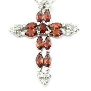 sterling silver garnet pendant gemstone