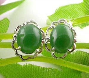 sterling silver jadeite stud earring olivine pendant garnet tourmaline rin