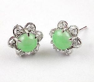 sterling silver jadeite stud earring \garnet blue topaz pendant citrine ring
