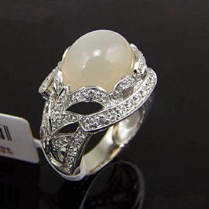 sterling silver moonstone ring gemstone pendant amethyst olivine