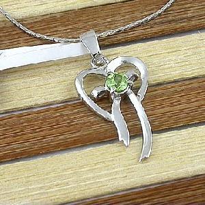 sterling silver olivine pendant amethyst ring tourmaline earri