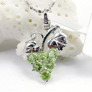 sterling silver olivine pendant citrine ring ruby bracelet prehnite earring