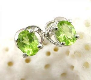 sterling silver olivine stud earring amethyst tourmaline bracelet