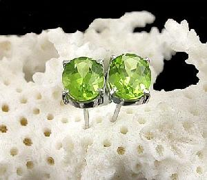 sterling silver olivine stud earring fashion jewelry prehnite ring amethyst bracelet