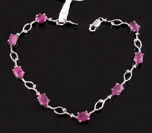 sterling silver ruby bracelet gemstone cz jewelry blue topaz ring prehnite earring