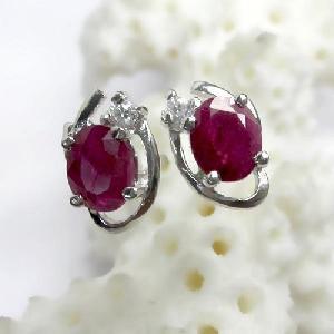 sterling silver ruby earring cz jewelry prehnite amethyst ring pendant