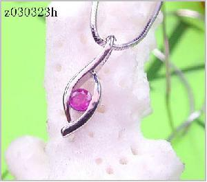 Sell Sterling Silver Natural Ruby Pendant, Gemstone Jewelry, Sapphire Earring, Prehnite Ring, Neckla