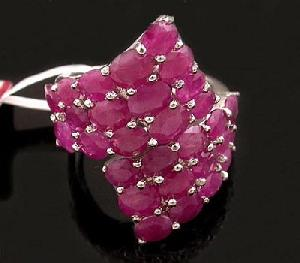 sterling silver ruby ring brass cz jewelry earring tourmaline pendant
