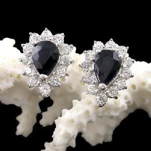 sterling silver sapphire earring amethystring tourmaline prehnite pendant