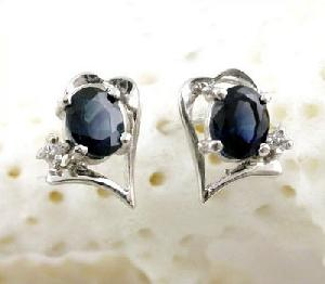 sterling silver sapphire earring brass cz jewelry blue topaz ring