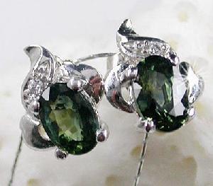sterling silver sapphire earring prehnite jadeite bracelet pendant cz jew