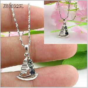 sterling silver sapphire pendant earring olivine garnet gemstone jewelry