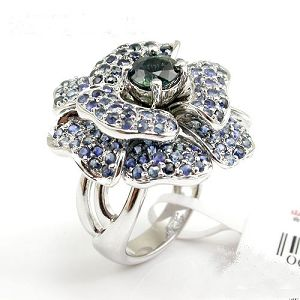 sterling silver sapphire ring tourmaline prehnite jadeite bracelet pendant