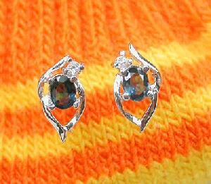 sterling silver sapphire stud earring citrine ruby ring bracelet