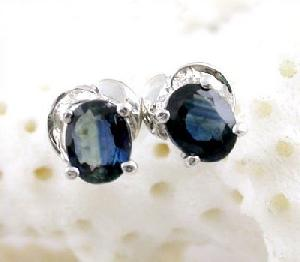 sterling silver sapphire stud earring fashion jewelry cz ring amethyst