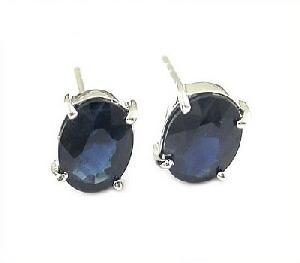 sterling silver sapphire stud earring tourmaline ring prehnite bracelet pendant rin