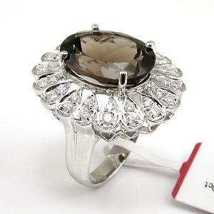 sterling silver smoky quartz ring tourmaline pendant agate citrine bracelet earrin