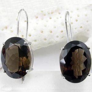 sterling silver smoky quartz stud earring jadeite bracelet pendant ruby rin