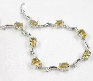sterling silver topaz bracelet gemstone jewelry blue agate ring fashion jewe