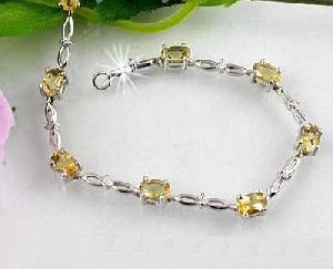 sterling silver topaz bracelet jadeite olivine citrine ring pendant