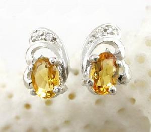 sterling silver topaz stud earring blue olivine garnet prehnite ring earr