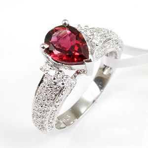 sterling silver tourmaline ring cz jewelry fashion sapphire earring