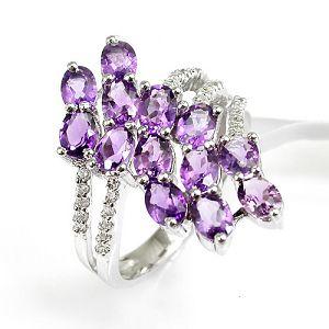 sterling silvernatural amethyst ring citrine garnet earring moonstone bracelet earri