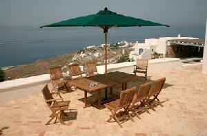 green umbrella leverton ketek folding chair rectangular extension table teak outdoor furniture