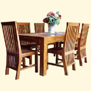 Java Dining Rom Mahogany Wood Table Chair Wooden Indoor Furniture