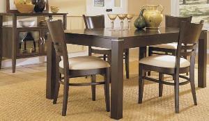 minimalist modern dining chair table glass buffet indoor furniture mahogany teak
