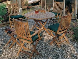 round coffee folding chair table teka teak outdoor furniture