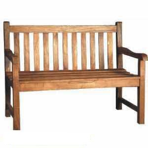 teak lattice bench 2 seater knock teka garden furniture