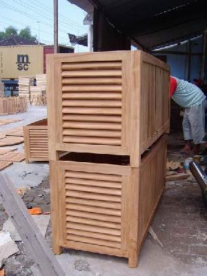 teak loundry box wooden indoor outdoor furniture