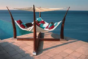 teak outdoor hammock bed teka garden furniture indonesia