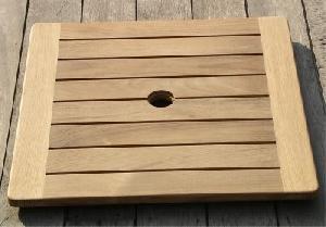 teka lazy susan square teak garden furniture