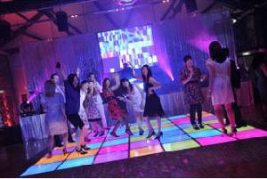 led dance floor arena mosaic screen tile stage light