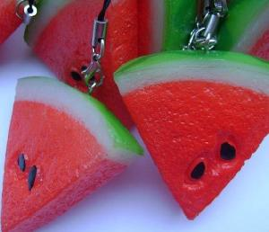 fruit simulation pvc mobile charm