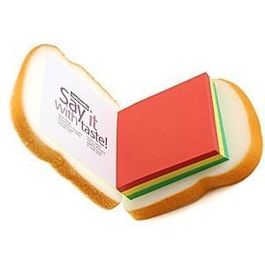 toast shape memo pad