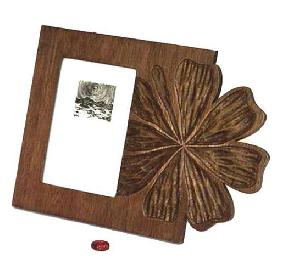 carved wood photo frame fm14e flw eb