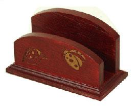 carved wooden card holder dk027 ls17